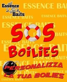 "ESSENCE BAITS BOILIES "" SOS  "" 25 KG ( PERSONALIZZATE )"